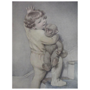 "SOLD Bessie Pease Gutmann Print ""Goodnight"""