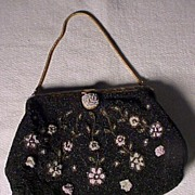 "SALE Pretty Vintage ""DeLiLL"" Beaded Bag"