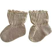 SOLD Silk Booties For Baby or Doll