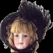 Doll's Mourning Bonnet