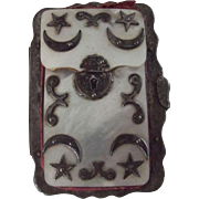 Mother of Pearl Calling Card Case Possibly Masonic