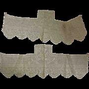 Pair Heavy Crochet Trims