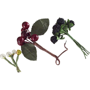 Berries, Cherries and Glass Rounds For Trim
