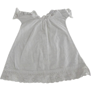 White Nightgown For Baby Doll