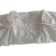 Doll Dress With Embroidered Ivy Vine Trim