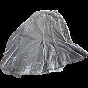 Victorian Blue Corduroy Skirt For Material or Repair