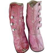 SOLD Pink Victorian Child's Shoes