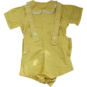 SOLD Yellow Boy's Outfit 1930's or 40's - Red Tag Sale Item
