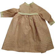 Early Doll Dress, Eyelet Trim, Tucks