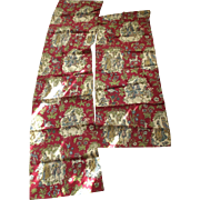 Two Cotton Print Curtain Panels