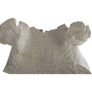 White Vintage Dress For A Large Doll