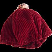 Red Corduroy Tam