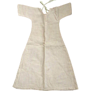 Pink and White Striped Flannel Doll Nightgown