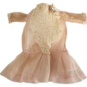 Pink Organdy Edwardian  Doll Dress