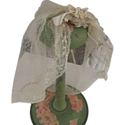Vintage Bridal Veil For Doll, Wedding Veil