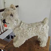 Old Straw Stuffed Dog