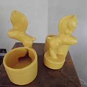 SALE Pair of  Art  Deco Pony Planters