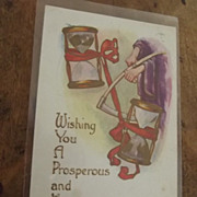 Victorian Happy New Year Card
