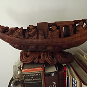 SALE Early Boxwood Boat