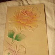 Raised Design 1900's Postcard