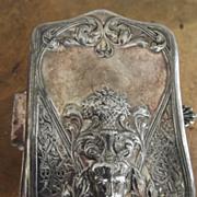 SALE Art Nouveau Silverplate Box With Bacchus