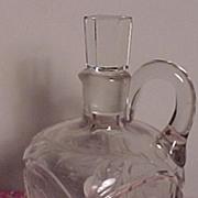 SALE Pretty Cut Glass Wine Decanter