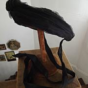 SALE Civil War Mourning Bonnet