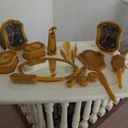 SALE Complete Celluloid Dresser Set