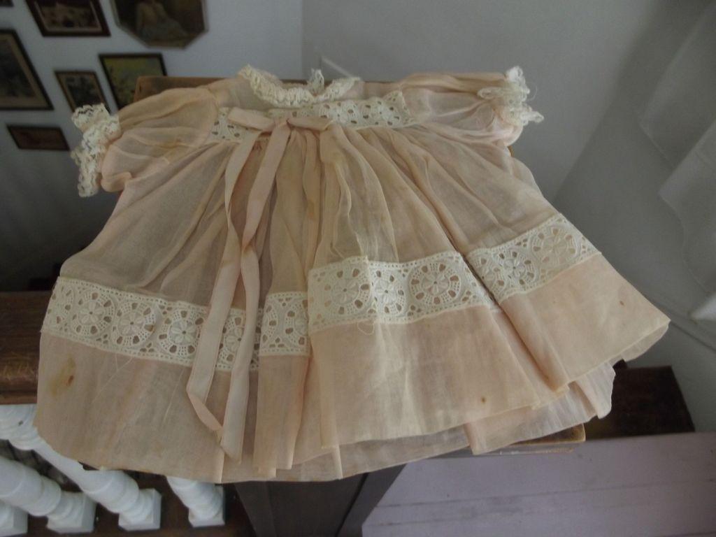 Pink Organdy Baby Doll Dress