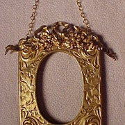 Elaborate Old Goldtone Small Frame
