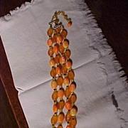 Unusual Orange Necklace