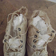 SOLD White CLoth Doll  Shoes