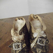 Antique Faux Snakeskin Shoes