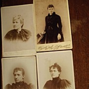 Four Cabinet Cards of Women