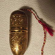 Brass Sewing Container