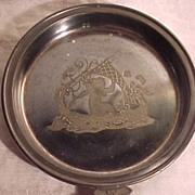 SALE Nice Old  Victorian Silverplate Dish With Etching