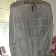 Victorian White Lawn  Day Dress