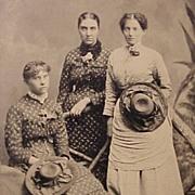 Tintype of Three Young Ladies