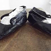 """SOLD Black """"Sorosis"""" Shoes, Salesman's Sample or Dolls"""