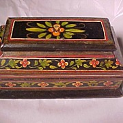 Early Hand Painted Wood Box