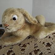 Large Lying Steiff  Googly Eyed Rabbit