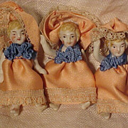 SALE Lot Of  Tiny Dolls In Peach