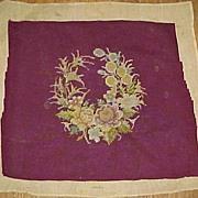 Deep Burgandy Needlework