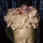 SALE Vintage Floral Hat