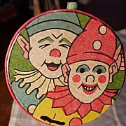 SALE PENDING Art Deco Clown Noisemaker