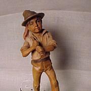 Old German Boy Wanderer Figure