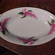 Pretty Vintage Japan Dish With Lilacs