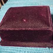 Old Bulova Velvet Watch Case
