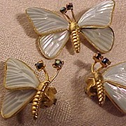 SALE Stunning Austria Butterfly Set