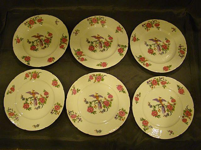 Charles Field Haviland Limoges set bird plates